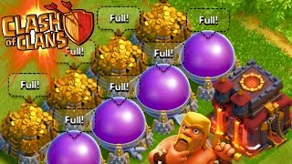 "Clash of Clans - ""SPENDING 24,000,000!"" SO MUCH LOOT! MAXED/FULL STORAGES! RESOURCES!"