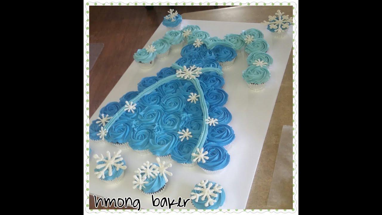 How To Make A Princess Dress Cupcake Cake