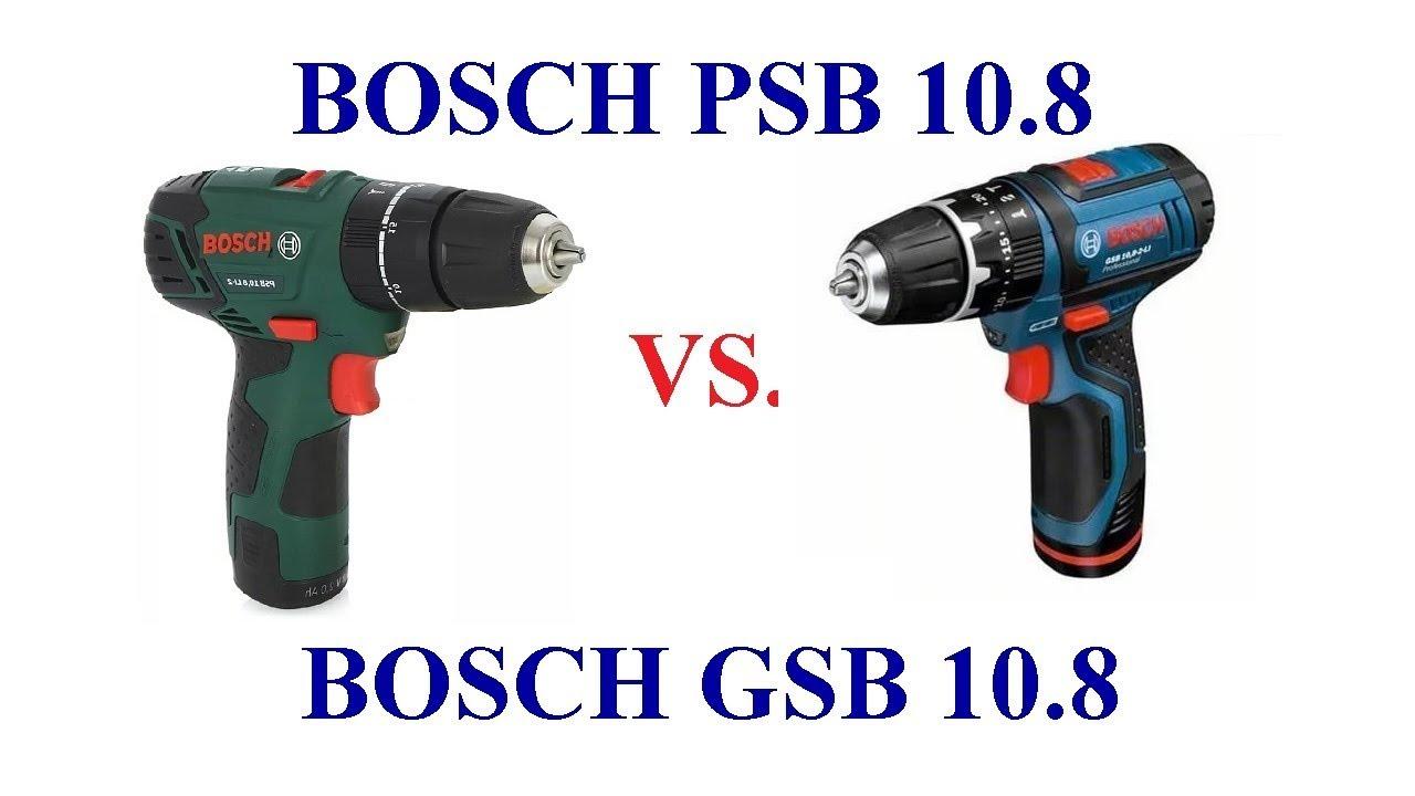 bosch gsb 10 8 vs bosch psb 10 8 comparison youtube. Black Bedroom Furniture Sets. Home Design Ideas