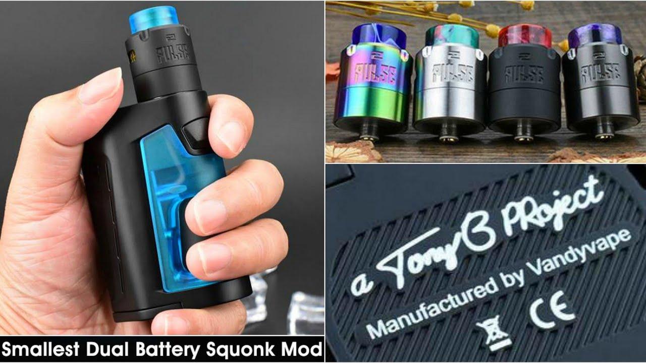 Pulse Dual Squonk Mod & Pulse V2 RDA | Tony B  - Vandy Vape