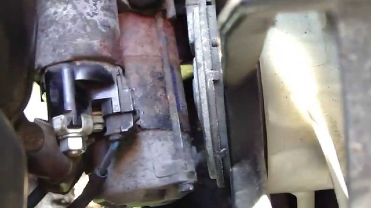 diesel engine starter diagram bones skeleton with labels how to replace start motor toyota corolla years 2007 2014 youtube