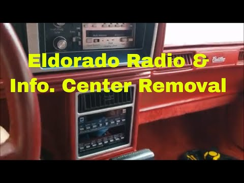 1986 - 1991 Cadilac Eldorado / Seville Dash Radio and Information Center Removal Instructions