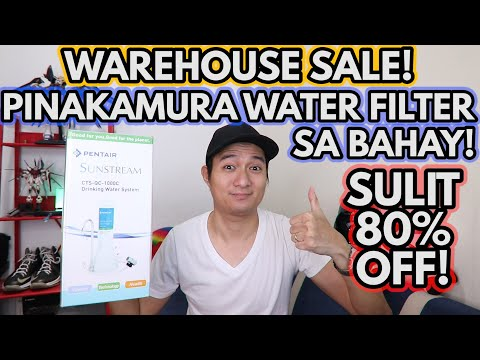 PINAKAMURANG WATER FILTER SYSTEM FOR HOME! SULIT 80% OFF! WATER PURIFIER UNBOXING REVIEW   PENTAIR