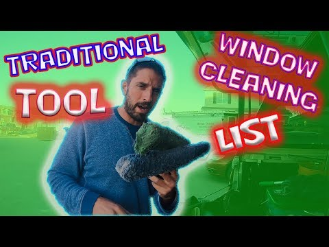 STEVEO'S TRADITIONAL WINDOW CLEANING TOOL LIST