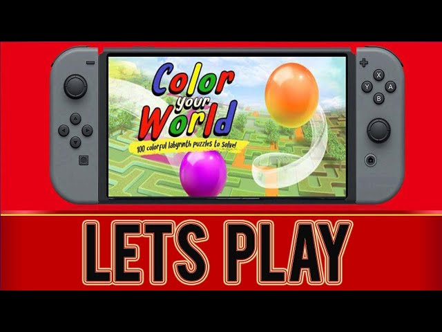 Color Your World Nintendo Switch Gameplay