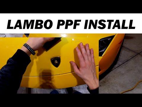 How To Install Paint Protection Film On A Lamborghini Gallardo