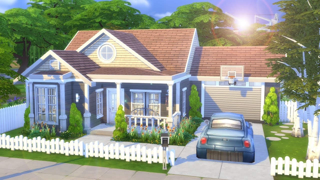 Simple family home the sims 4 speed build youtube for The family house