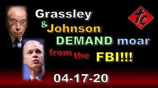 Grassley & Johnson DEMAND moar from the FBI!!!