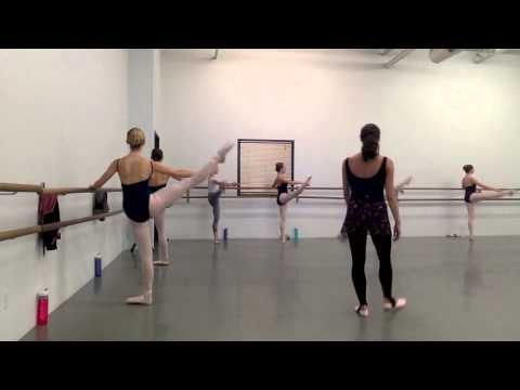 Jessica Lawrence-- Teaching Sample, Advanced level ballet class.