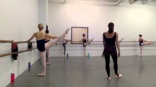 Jessica Lawrence-- Teaching Sample, Advanced level ballet class.