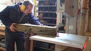 Furniture Making, Driftwood Table 3 ( How To Shape Rail On Bandsaw)