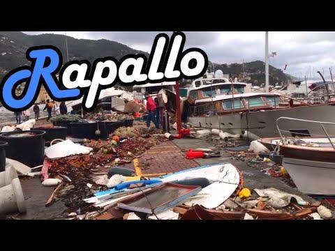 Unwetter in Italien - Zerstörung in Rapallo - Live Videos