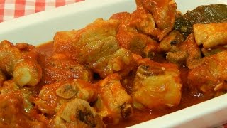 Costillas de cerdo en salsa receta fácil