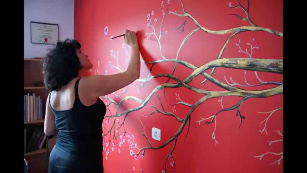 "Fresque "" cerisier japonais"" par christelle romulus   youtube"