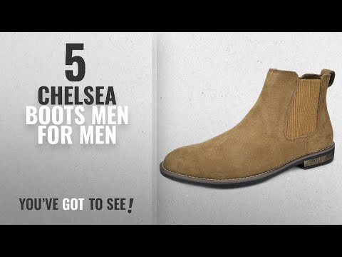 Top 10 Chelsea Boots Men [ Winter 2018 ]: Bruno Marc Men's Urban-06 Tan Suede Leather Chukka Ankle