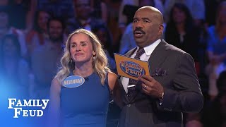 Mekinnah's $20,000 SHOCKER! | Family Feud