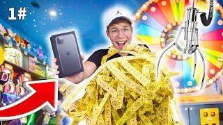 זכיתי באייפון 11 פרו מקס החדש במשחקייה!! (20,000 כרטיסים)