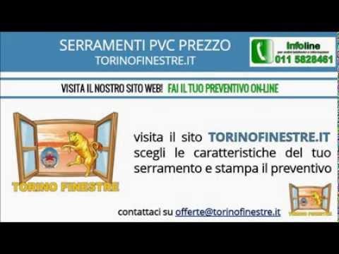 Serramenti in pvc prezzi torinofinestre it youtube for Prezzi serramenti