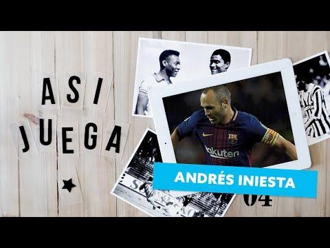 Así juega ANDRÉS INIESTA   FC Barcelona