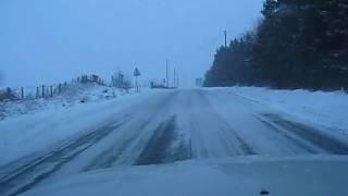 Sneeuwstorm over Aubel Video