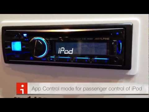 Alpine Electronics CDE-143BT CD Bluetooth Iphone 5 Compatible CES 2013