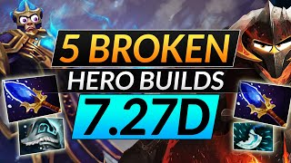 5 NEW Hero BUÏLDS That are SUPER BROKEN - ABUSE for FREE MMR - Dota 2 Meta Guide