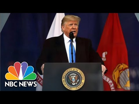 President Donald Trump Becomes First Sitting President To Attend NYC Veterans Day Parade | NBC News