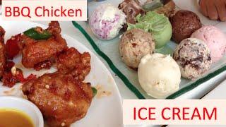 Special Honey Bbq Chicken, Hotdogs, And Ice Cream Swensen's Restaurant In Phnom Penh