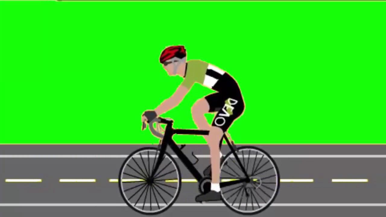 Green Screen Animasi Naik Sepeda Youtube
