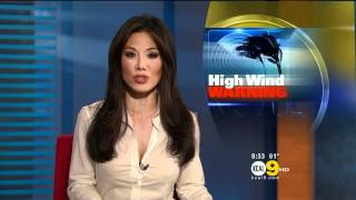 Sharon Tay 2011/12/01 8PM KCAL9 HD; Tight white dress shirt