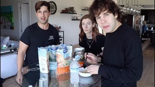 EATING FOOD OUT OF A BAG MUKBANG FT DAVID, CARLY AND ERIN