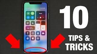iPhone X - 10 TIPS & TRICKS!