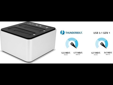 OWC Drive Dock With Thunderbolt 2 and USB 3 1 Gen 1 Unboxing Review