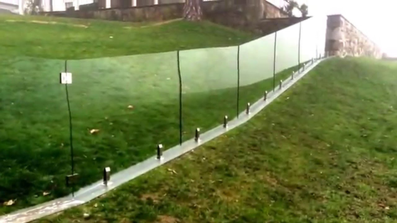 Frameless Glass Pool Fence Mounted On Hill Youtube