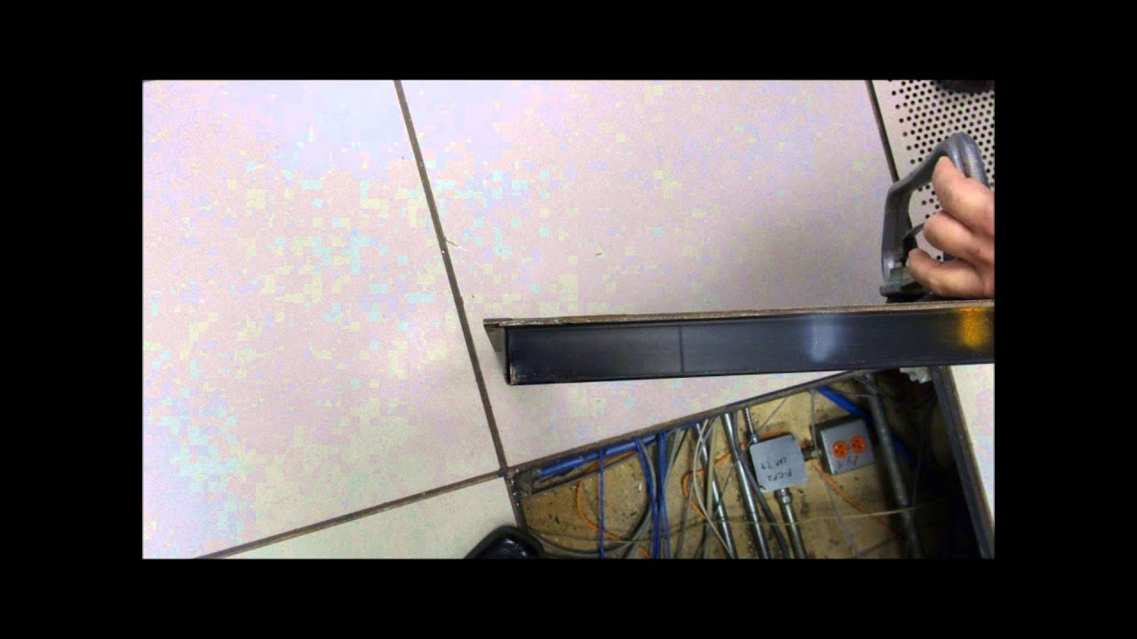 Data Center access floor tile replacement - YouTube