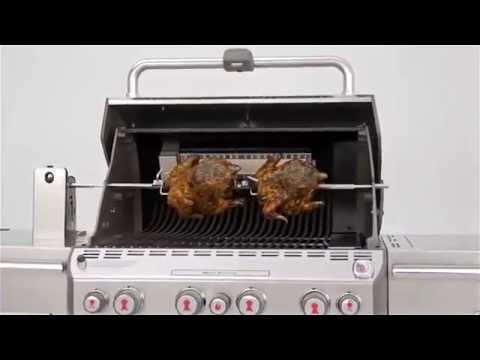 weber summit s 470 stainless steel grill youtube. Black Bedroom Furniture Sets. Home Design Ideas