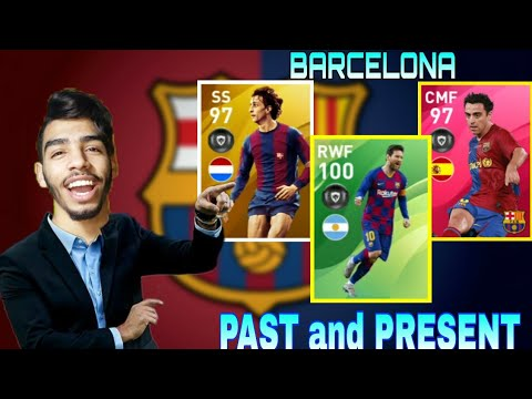 BARCELONA PAST and PRESENT Squad Builder 🔥 eFootball pes 20 mobile #03