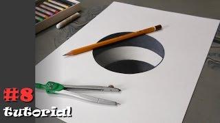 3d рисунок для начинающих. Как нарисовать - урок с объяснением!
