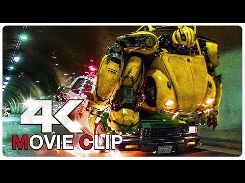 Play Bumblebee Vs Police Car Chase Scene - BUMBLEBEE (2018) Movie CLIP 4K