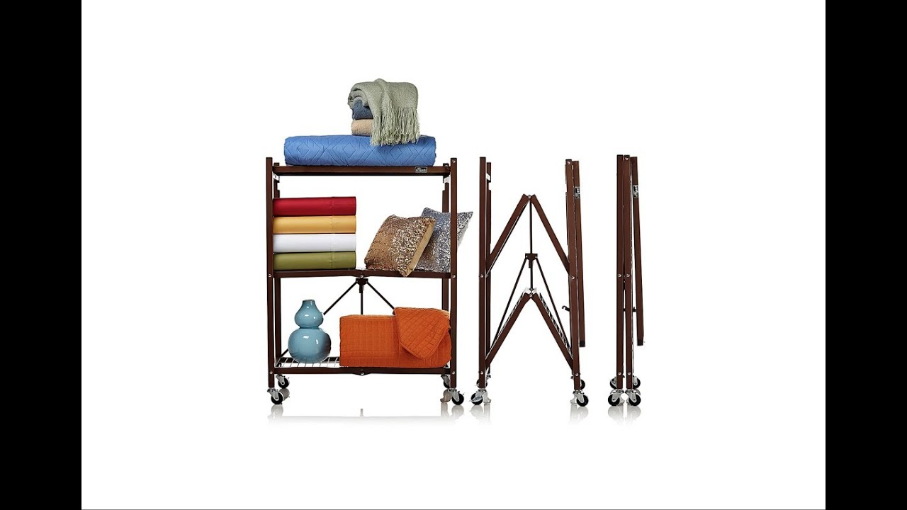 Origami 3 Tier Folding Storage Shelves 2 Pack | Shower ... - photo#5
