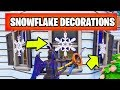 Destroy Snowflake Decorations All Locations - 14 Days of Fortnite Challenges Guide
