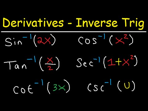 Derivatives of inverse trigonometric functions sin-1(2x), cos-1 (x^2), tan-1 (x/2) sec-1 (1+x^2)
