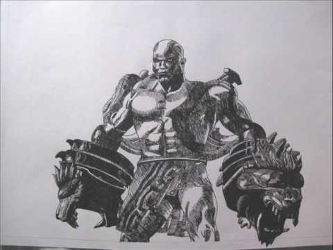 God Of War 3 Kratos Drawing Youtube