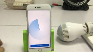 Lamp Bulb Wifi IP Camera APP V380 Configuration for iPhone