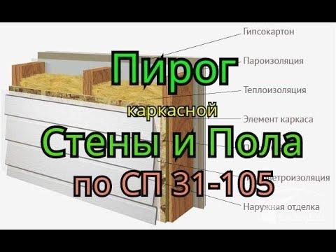 Пирог каркасной стены и пола. СП 31-105