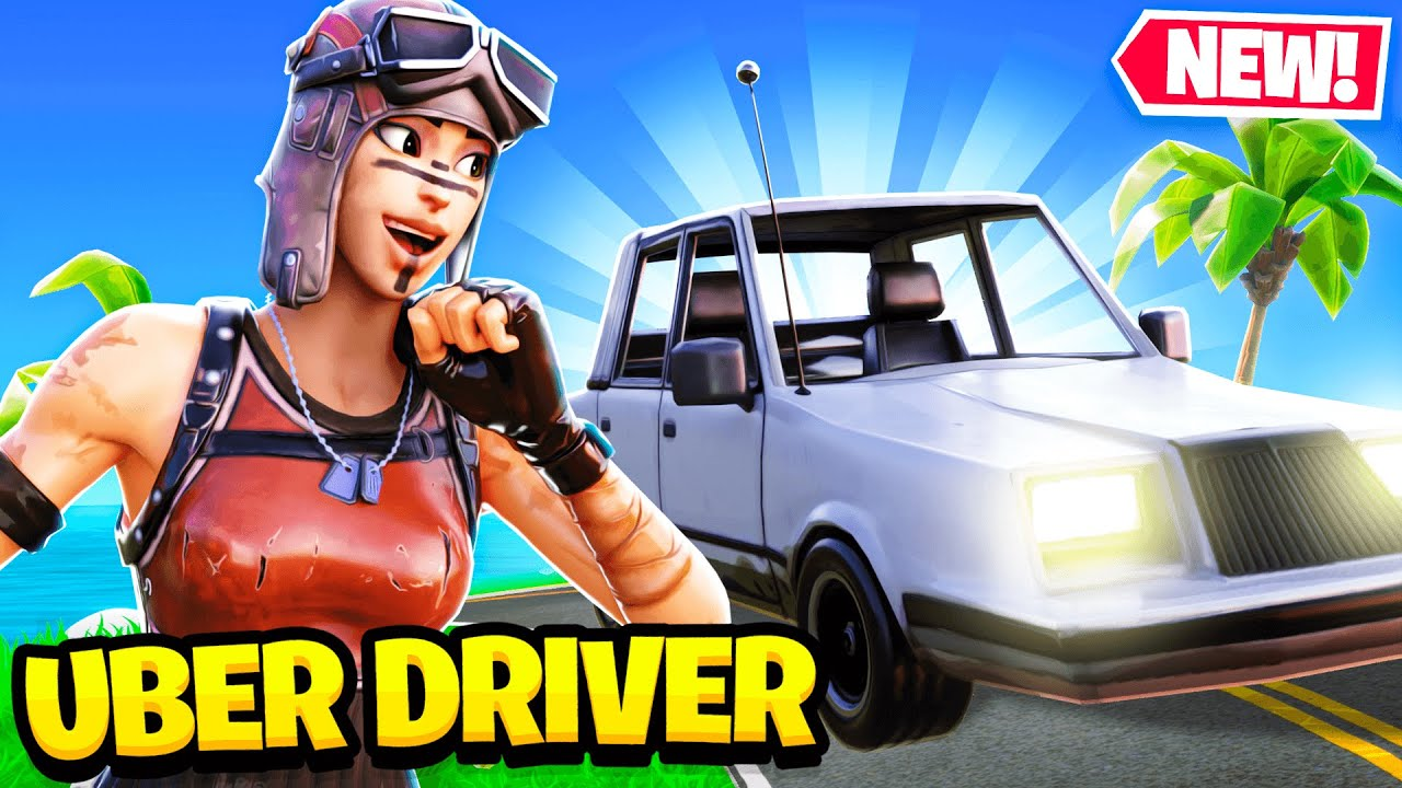 Picking Up UBER RIDERS with CARS in Fortnite... (super funny)