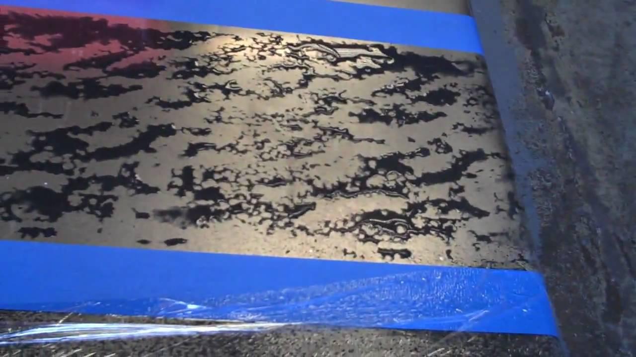 Patina A Zinc Sheet Or Countertop Part