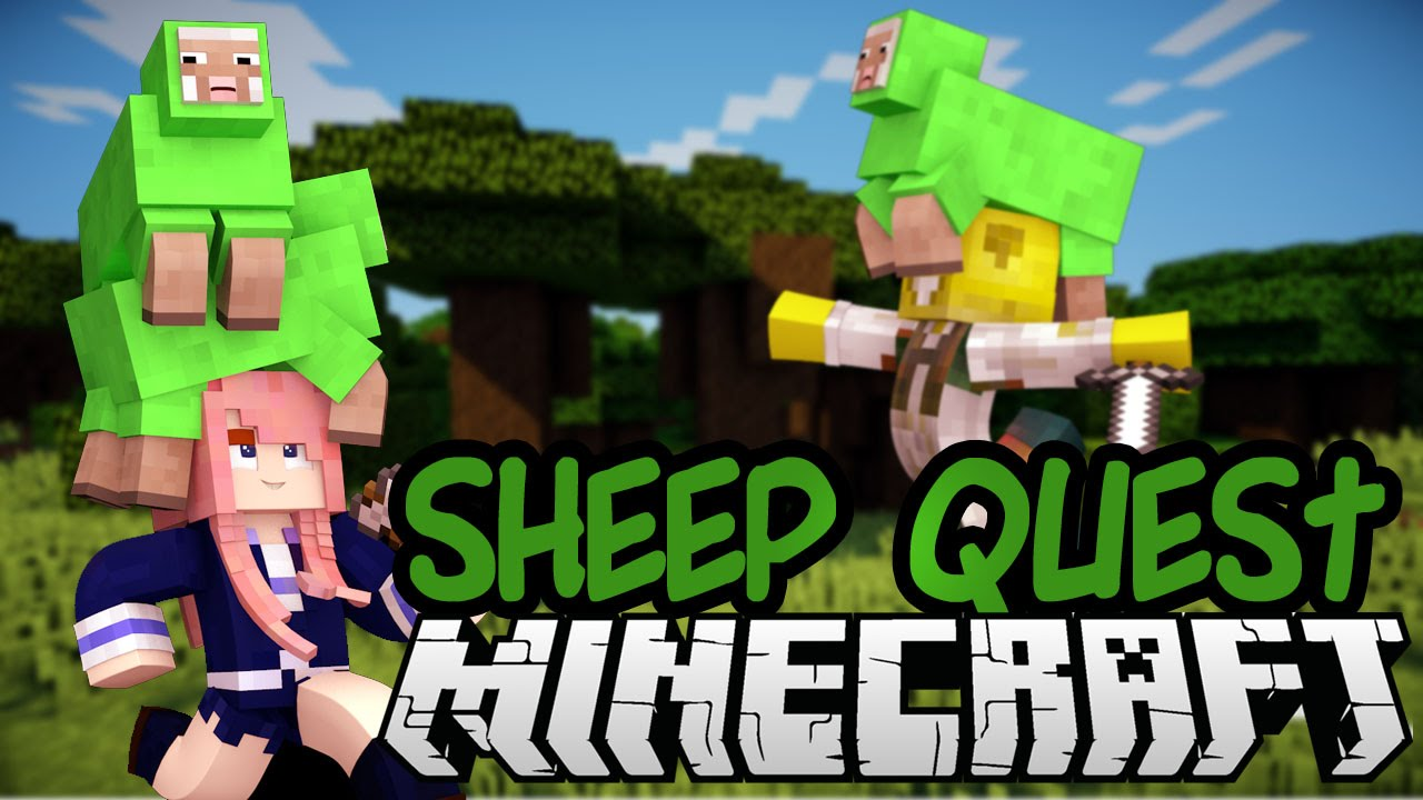 SHEEP QUEST Minecraft Mini game with Smallishbeans YouTube