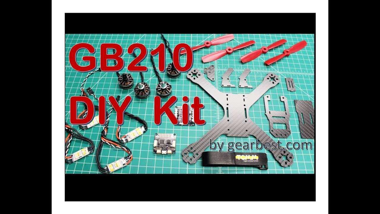 Flycolor GB210 DIY Kit X Frame for FPV Racing (from gearbest.com) 1 ...