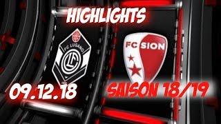 Highlights: Fc Lugano vs Fc Sion (09.12.18)